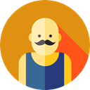 entertainment, Fairground, Professions And Jobs, Strongman, user, Avatar, Circus, carnival Goldenrod icon