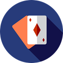 Cards, poker, magician, entertainment, Magic Trick Icon