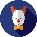 Costume, Fairground, Professions And Jobs, Clown, Circus, carnival, entertainment, people, user DarkSlateBlue icon
