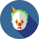 Clown, Circus, carnival, entertainment, people, user, Costume, Fairground, Professions And Jobs SteelBlue icon