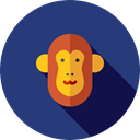 mammal, wildlife, Primate, Animal Kingdom, monkey, zoo, Animals DarkSlateBlue icon