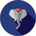 elephant, zoo, Animals, mammal, entertainment, Wild Life, Animal Kingdom DarkSlateBlue icon