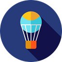 Balloon, transportation, travel, transport, flight, hot air balloon DarkSlateBlue icon