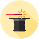Magic Trick, hat, magic, magician, entertainment, Wand Moccasin icon