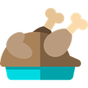 food, turkey, chicken, chicken leg, Turkey Leg, Roast Chicken, Food And Restaurant Black icon