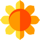 Flower, nature, sunflower, petals, blossom, Botanical Orange icon