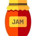 Jar, food, breakfast, jam, Conserve, Food And Restaurant Firebrick icon