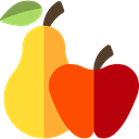 Apple, food, pear, vegetarian, vegan, Healthy Food, Fruit, organic, diet, fruits, Food And Restaurant, Cultures Gold icon