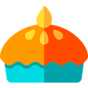 sweet, Bakery, Food And Restaurant, pie, food, Dessert OrangeRed icon