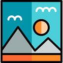 interface, landscape, Files And Folders, image, photo, picture, photography DarkCyan icon