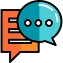 Communication, speech bubble, Conversation, Communications, Multimedia, Chat Black icon