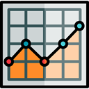 chart, graph, Business, Analysis, comparison, Polylines, Seo And Web LightGray icon