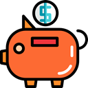 save, Money, coin, piggy bank, savings, funds, Business And Finance Tomato icon