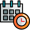Calendar, time, date, Schedule, interface, Administration, Organization, Calendars, Time And Date Black icon