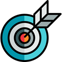 Arrows, Arrow, sport, Target, objective, Archery, weapons, archer, Edit Tools Black icon