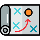 strategy, Business, sport, planning, tactics, Edit Tools Icon