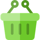 store, Basket, shopping, Shop, shopping basket, Container, Purchase, Commerce And Shopping YellowGreen icon