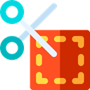 voucher, Commerce And Shopping, scissors, Money, commerce, Currency, Sales, Discount, Coupon Firebrick icon