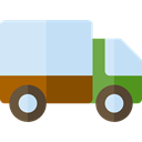 transportation, transport, trucking, Delivery Truck, Cargo Truck, Shipping And Delivery PowderBlue icon