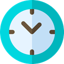 Tools And Utensils, Time And Date, Clock, time, watch, tool, square DarkTurquoise icon