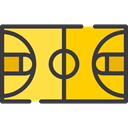 Game, sports, Playground, Sportive, Basketball Court, Sports And Competition DarkSlateGray icon