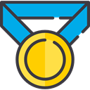 award, medal, winner, Champion, Sports And Competition DarkSlateGray icon