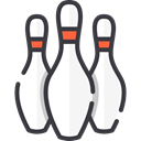 Game, sports, Fun, leisure, Bowling Pin, Sports And Competition DarkSlateGray icon