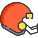 helmet, Protection, equipment, sports, American football, Sportive, Sports And Competition Tomato icon