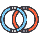 rings, Athletics, Athlete, olympic, sports, Gymnastics, gym, Gymnast, Sports And Competition DarkSlateGray icon