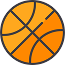 Sports And Competition, team, equipment, sports, Sport Team, Basketball DarkOrange icon