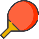 equipment, sports, ping pong, racket, table tennis, Sports And Competition Tomato icon
