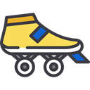 sports, skate, Skating, skater, leisure, roller skate, Sports And Competition Black icon