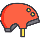 security, helmet, Protection, cycle, sports, Bicycle, cycling, Biking, Sports And Competition Tomato icon