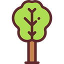 Botanical, Fruit Tree, Ecology And Environment, Tree, nature, garden, gardening, ecology, yard Black icon
