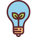 Ecology And Environment, Light bulb, Idea, electricity, illumination, technology, invention SkyBlue icon