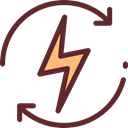 lightning, weather, electricity, Flash, Bolt, electrical, technology, thunder, electronics Black icon