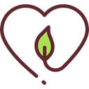 ecology, Shaped, Ecology And Environment, Heart, eco Black icon