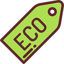 Recycled, tag, commerce, eco, Ecology And Environment YellowGreen icon