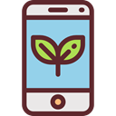 touch screen, mobile phone, cellphone, smartphone, technology, Ecology And Environment SaddleBrown icon