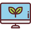 Multimedia, Computer, monitor, screen, Device, Imac, technology, electronic, electronics, Ecology And Environment SkyBlue icon