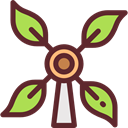 nature, technology, Windmill, mill, ecology, Ecological, Ecologic, Windmills, Eolian, Ecology And Environment SaddleBrown icon