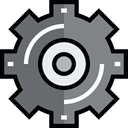 settings, industry, configuration, cogwheel, Gear, Tools And Utensils DimGray icon