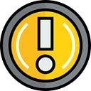 Alert, warning, exclamation, interface, industry, danger, signs Gray icon