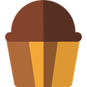 food, cupcake, muffin, Dessert, sweet, Bakery, baked, Food And Restaurant SaddleBrown icon