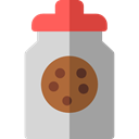 Food And Restaurant, Dessert, cookies, sweet, Bakery, Jar, food, cookie DarkGray icon