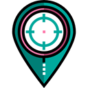 weapons, Dart Board, Aim, Target, shooting, sniper Black icon