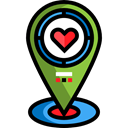 Favorite, Gps, pin, placeholder, signs, map pointer, Map Location, Map Point Black icon