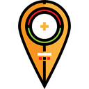 Aim, Gps, pin, Target, placeholder, signs, map pointer, Map Location, Map Point Black icon