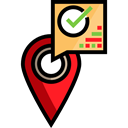 Check, Gps, pin, placeholder, map pointer, Map Location, Map Point Black icon