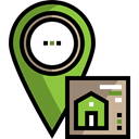 Home, house, Gps, pin, placeholder, Map Point, signs, real estate, map pointer, Map Location Black icon